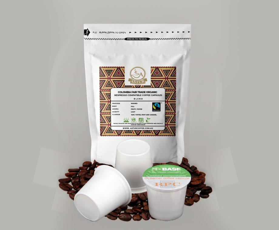 COLOMBIA Fair trade organic | Nespresso compatible Coffee capsules
